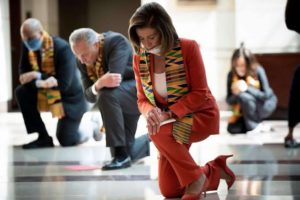 Nancy Pelosi, Charles Schumer Kneel To Honor George Floyd