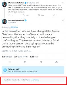 Biafra: Twitter deletes Buhari's controversial 'civil war' post
