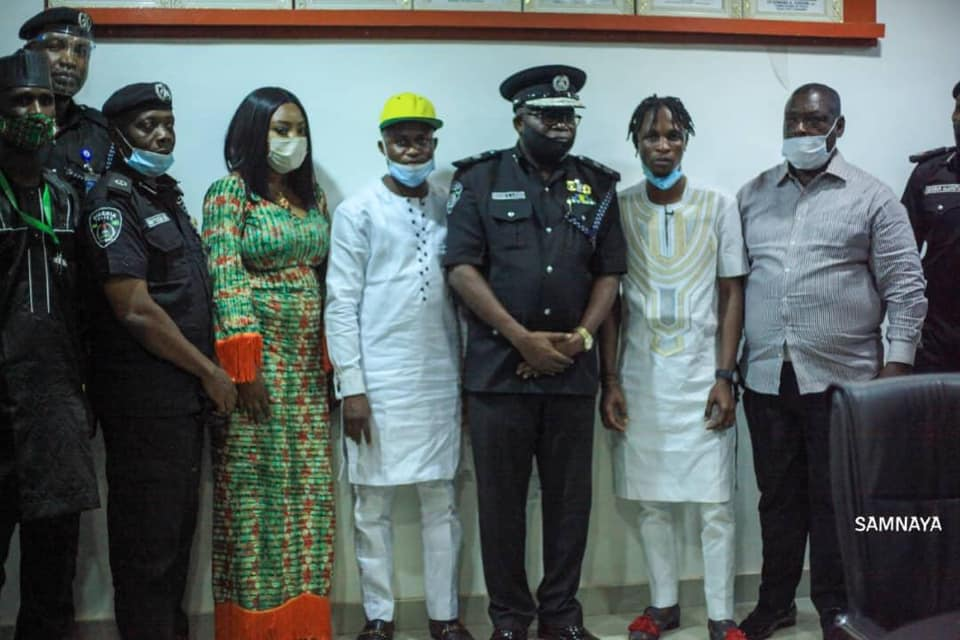 BB Naija star, Laycon visits Ogun CP, pleads Against Brutality of Innocent youths
