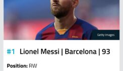 FIFA21 Players Ranking - Messi Ranked No 1 Player On FIFA21