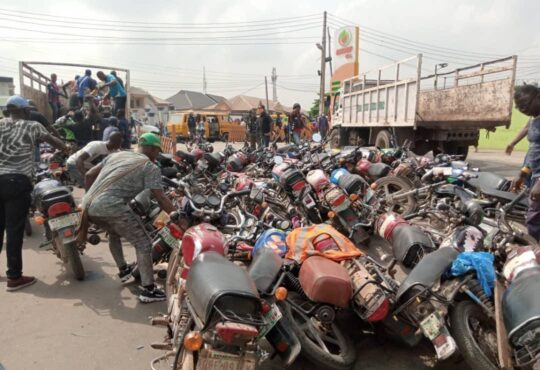 10 People Arrested For Attacking Lagos Taskforce Officers, 96 Motorcycles Seized