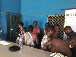Lagos Police Arrests 19 Suspected Cultists In Alakuko [Pictures]