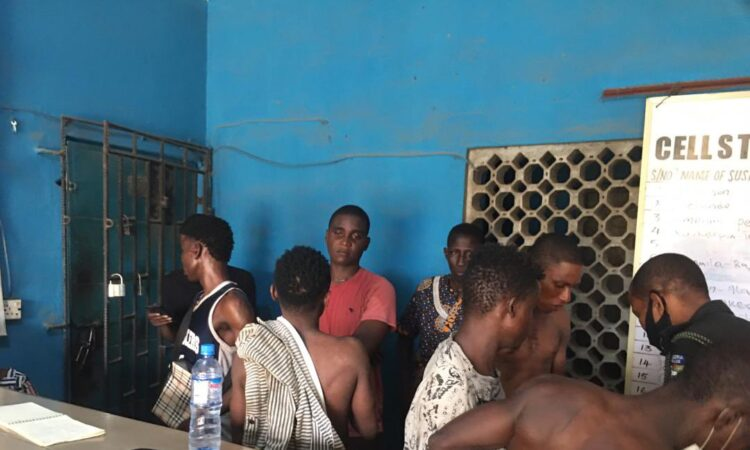 Lagos Police Arrests 19 Suspected Cultists In Alakuko [Pictures]