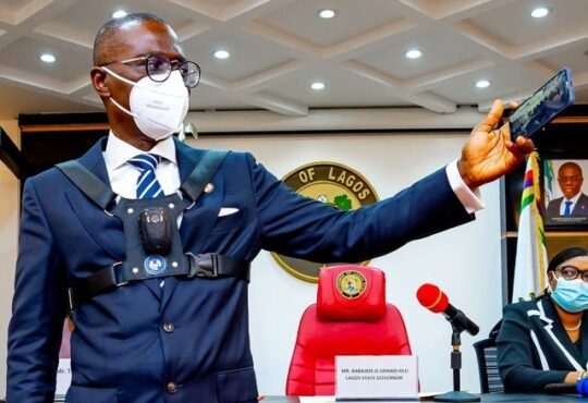 Sanwo-Olu unveils body-worn cameras for security personnel