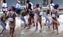 ladies fighting over man