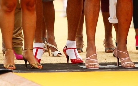 High heels race competition
