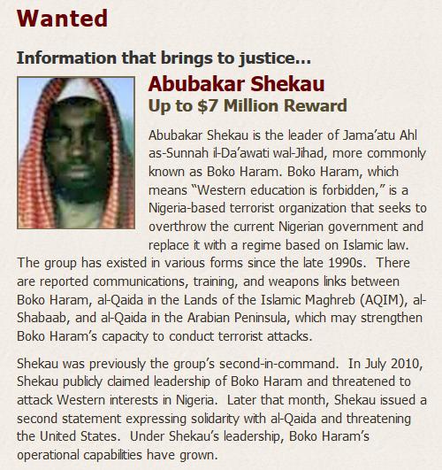 US Offers N2.5bn Reward For Information On Boko Haram Leader, Shekau