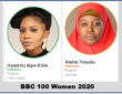 BBC's 100 Most Influential Women 2020 - Aisha Yesufu and Uyaiedu Ipke-Etim Make the list