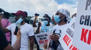 #EndSARS: Falz, Runtown, Prince Protest In Lekki
