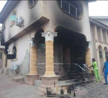 Sunday Igboho's House Gutted By Fire [Pictures]