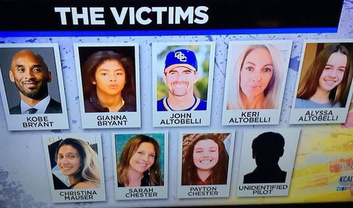 Kobe Bryant Helicopter Crash Victims