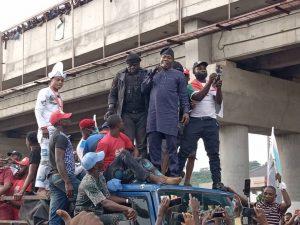 Sunday Igboho, Yoruba Nation agitators storm Ekiti rally [Photos & Video]