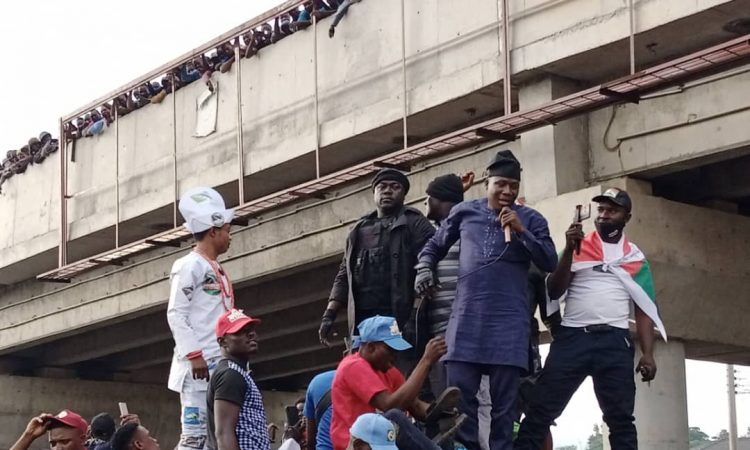 Oduduwa Republic - Sunday Igboho, Yoruba Nation agitators storm Ekiti rally [Photos & Video]