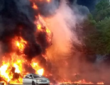 Video - One feared dead, cars burnt as tanker explodes in Ogun