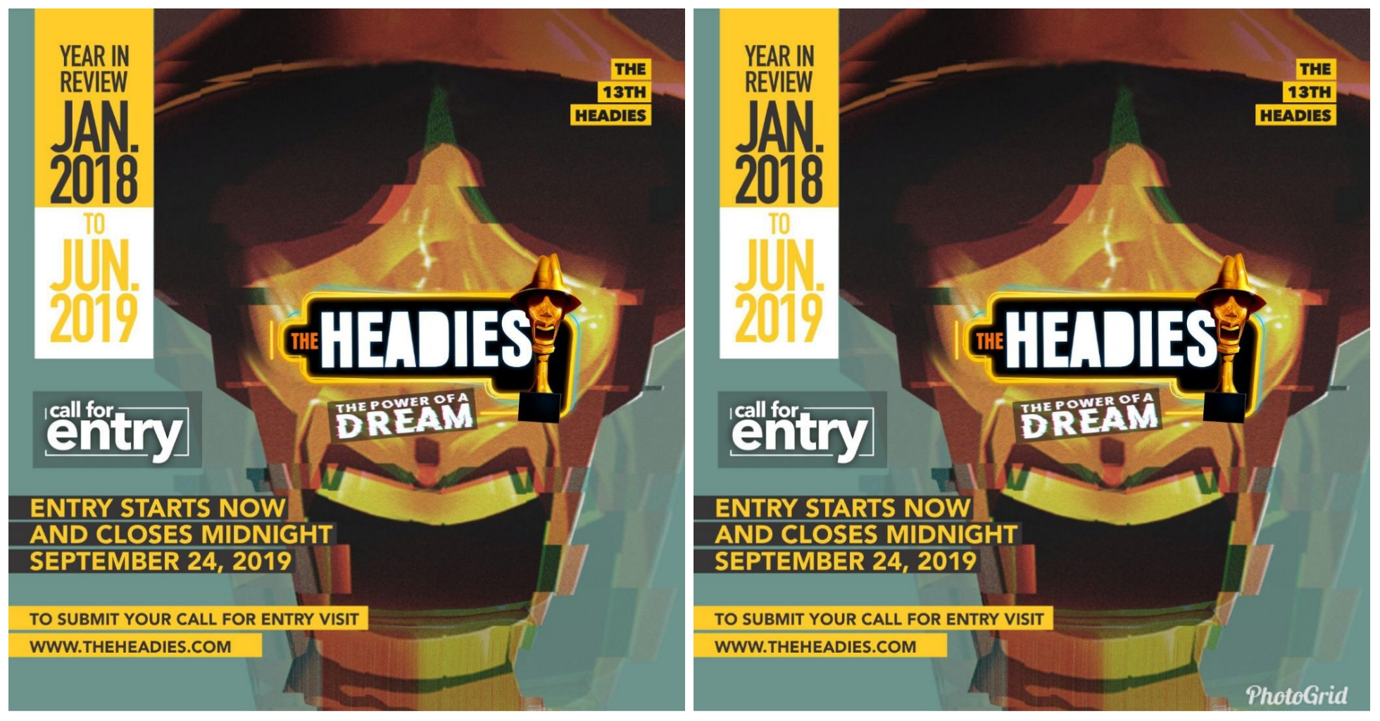 THE 13th HEADIES AWARD - How to Submit entries for nimmination