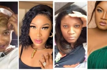"""Nollywood Actresses: """"Before and After"""" Makeup Transformation"""