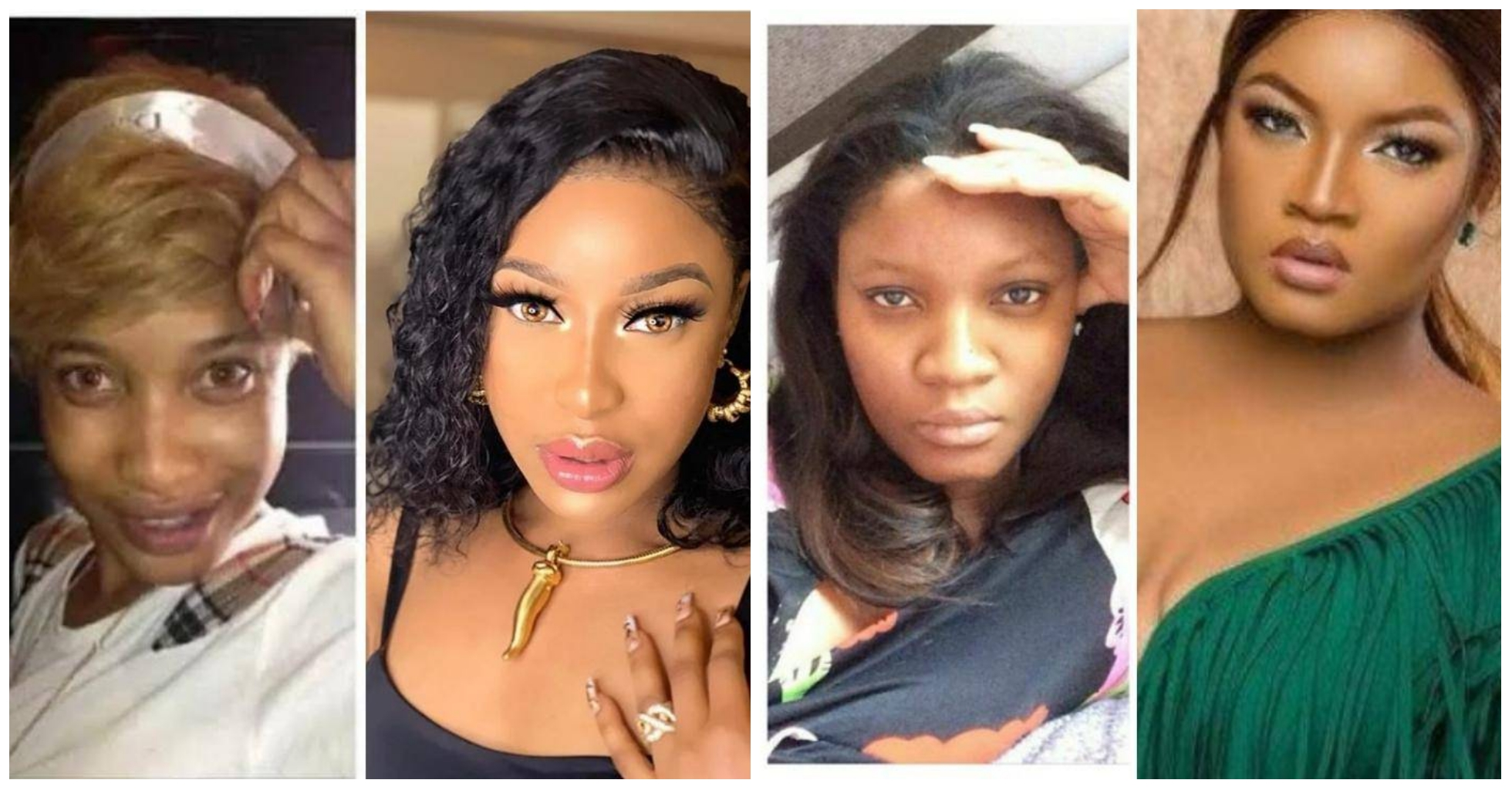 "Nollywood Actresses: ""Before and After"" Makeup Transformation"