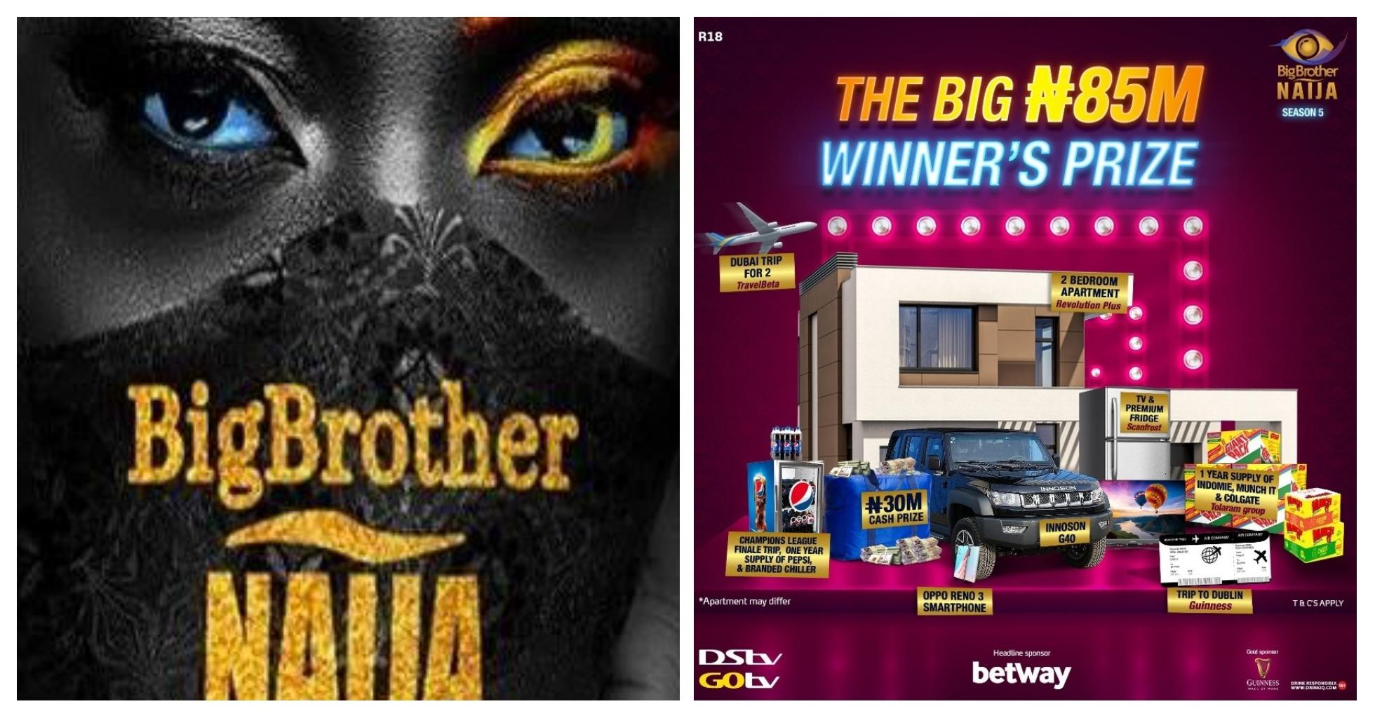 BBNaija season 5 Prize: N85 Million Grand Prize For Winner. The Breakdown