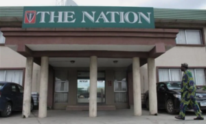 BREAKING - The Nations Newspaper Office Set Ablaze In Lagos