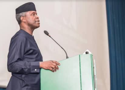 COVID 19 PANDEMIC : Osinbajo calls for equal distribution of Vaccine.