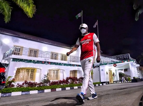 PHOTOS: 'COVID can't hold Lagos down' — Sanwo-Olu embarks on lone walk