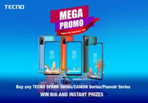 Win Fridge, Washing Machine and other free gifts in TECNO Mega Promo 2020