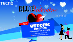Win ₦1.5M Wedding Reception Sponsorship in TECNO Blue Valentine