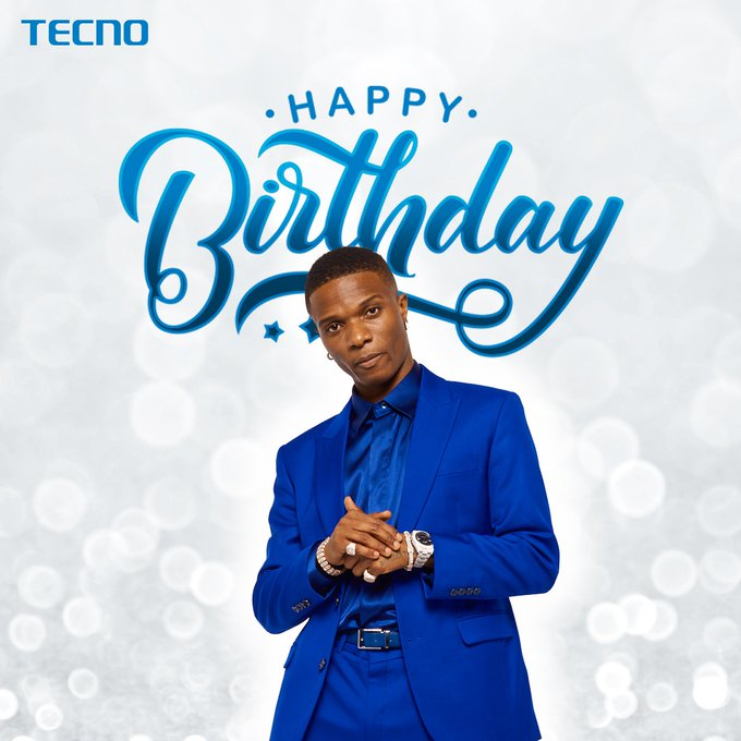 TECNO celebrates Brand Ambassador, Wizkid at 30