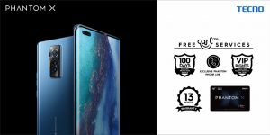 Enjoy 100 Days of free accidental damage repair and other VIP Services When you buy PHANTOM X in Nigeria