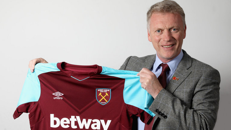David Moyes takes over as West Ham Boss.