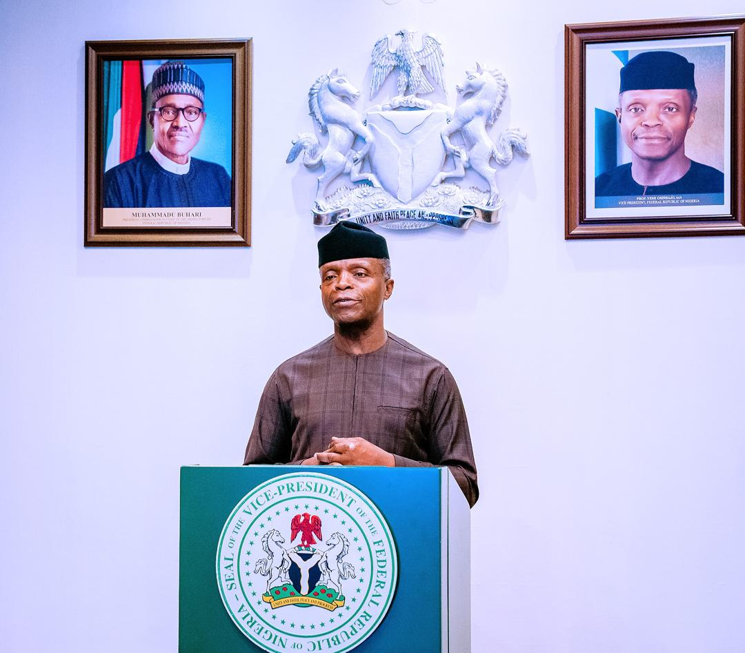 VP Osinbajo The victims of sexual harassment are not to blame, says Osinbajo
