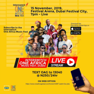 #OneAfricaMusicFest - How to watch One Africa Music Fest live