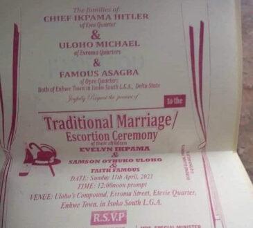 Nigerian man set to wed two women on same day. (Photo)
