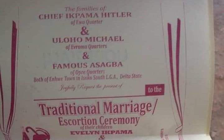Nigerian man set to wed two women on same day. (Photo)